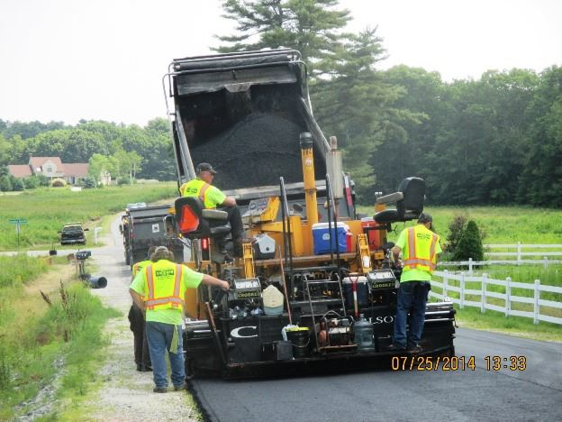Public Works Crew Paving Streets