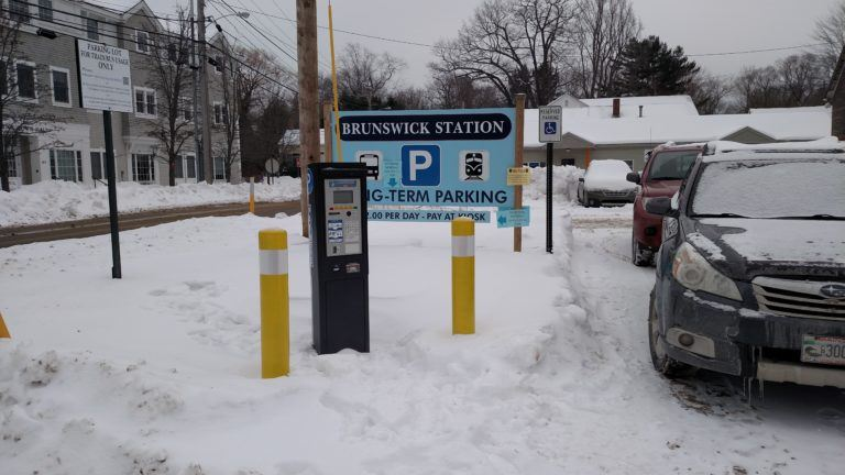 Parking Kiosk in Long-Term Parking Lot